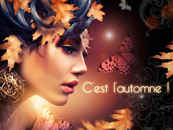 Carte automne visage