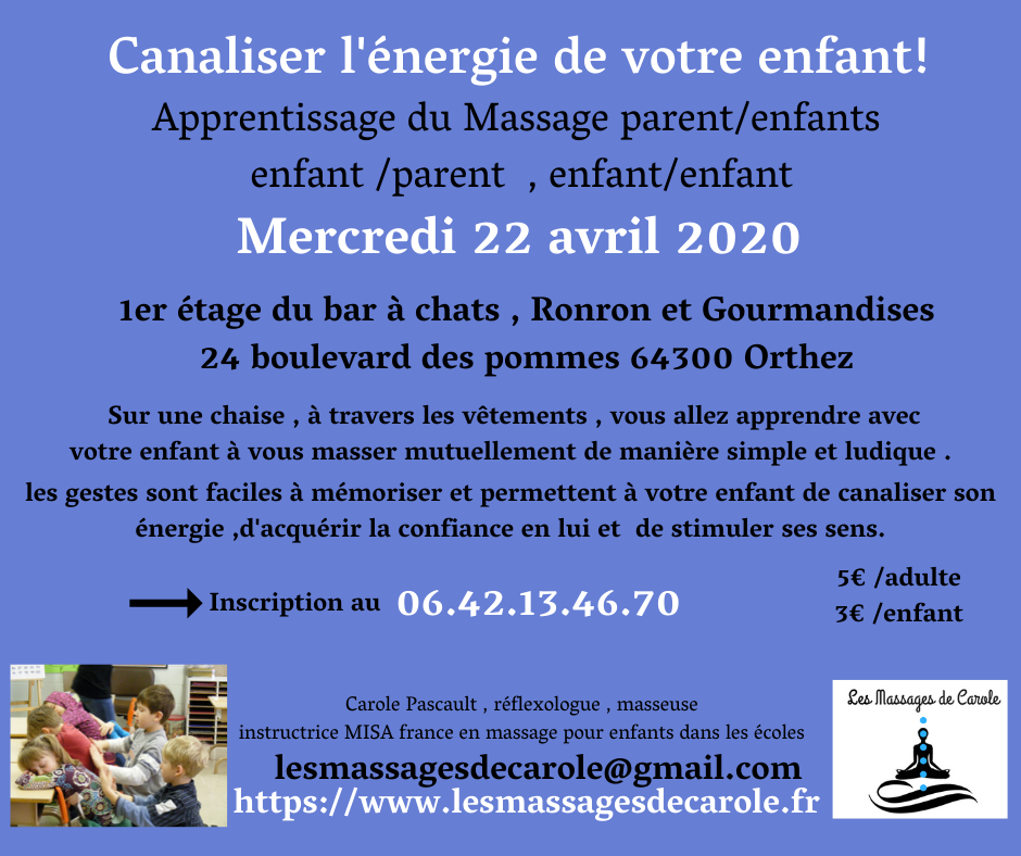 Apprentissage du massage parents enfants 2 2