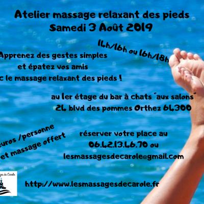 Atelier massage relaxant des pieds 1