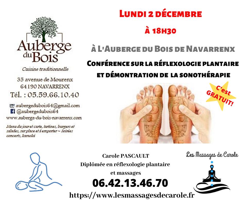 Conference sur la reflexologie plantaire et la sonotherapie 1
