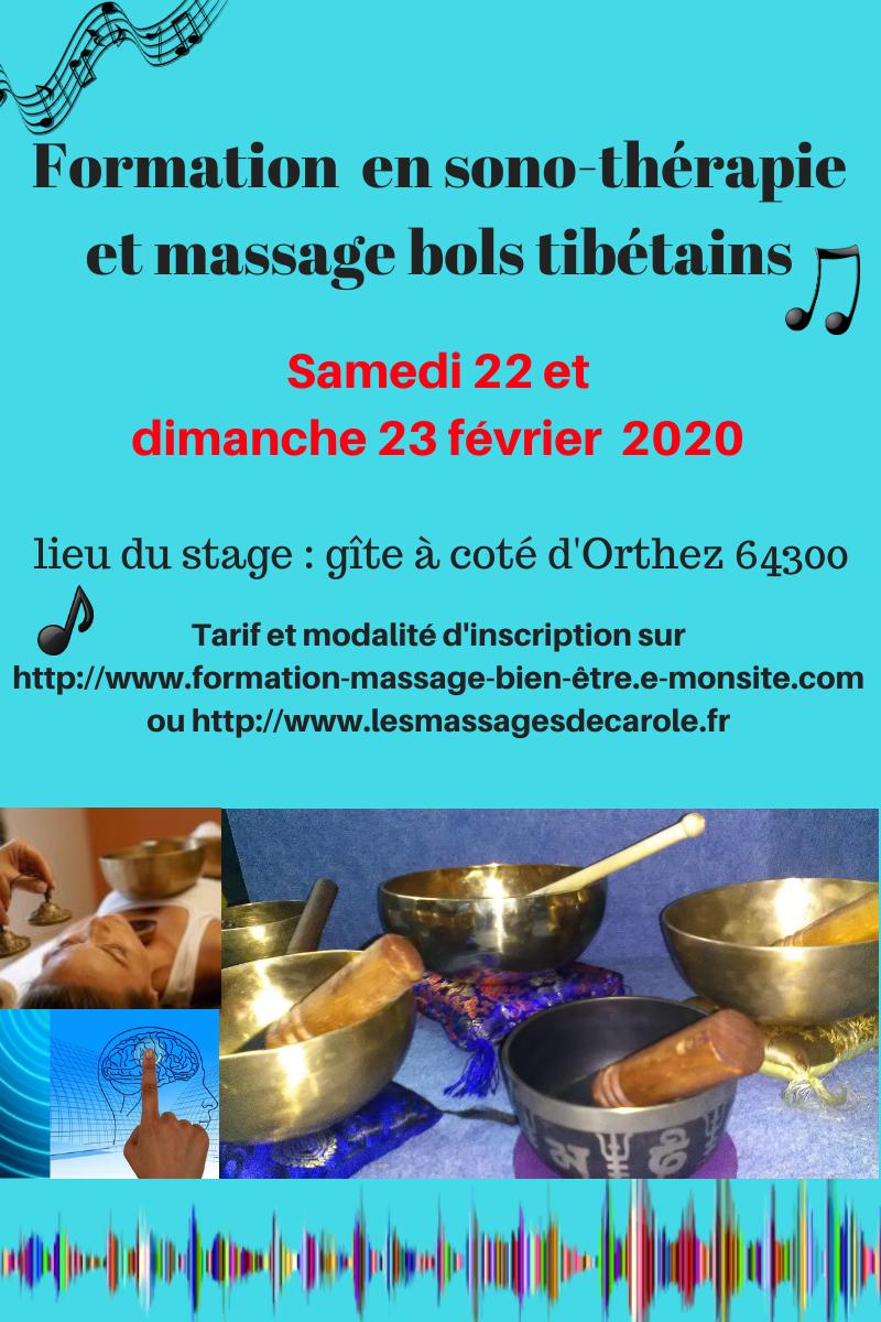 Formation aux massages aux bols tibetains